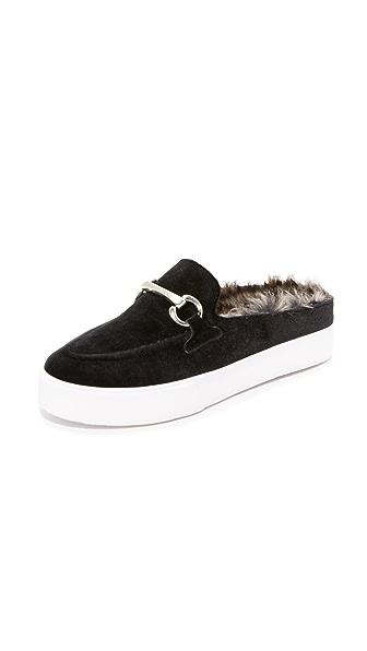 Jeffrey Campbell Tico Sneaker Mules - Black/Silver/Grey