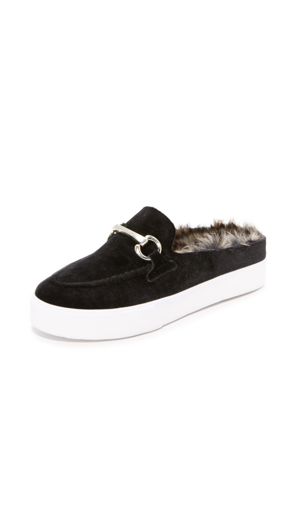 Jeffrey Campbell Tico Sneaker Mules - Black/Silver/Grey