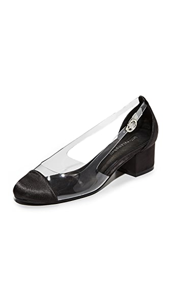 Jeffrey Campbell Tulloch Pumps In Black/Clear
