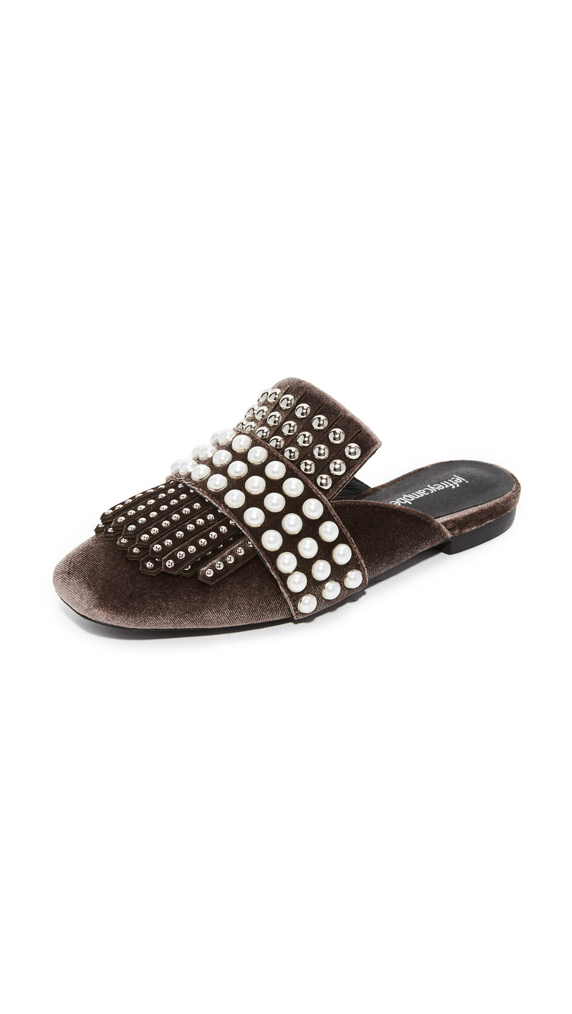 Jeffrey Campbell Ravis Tassle Slip On Mules - Brown