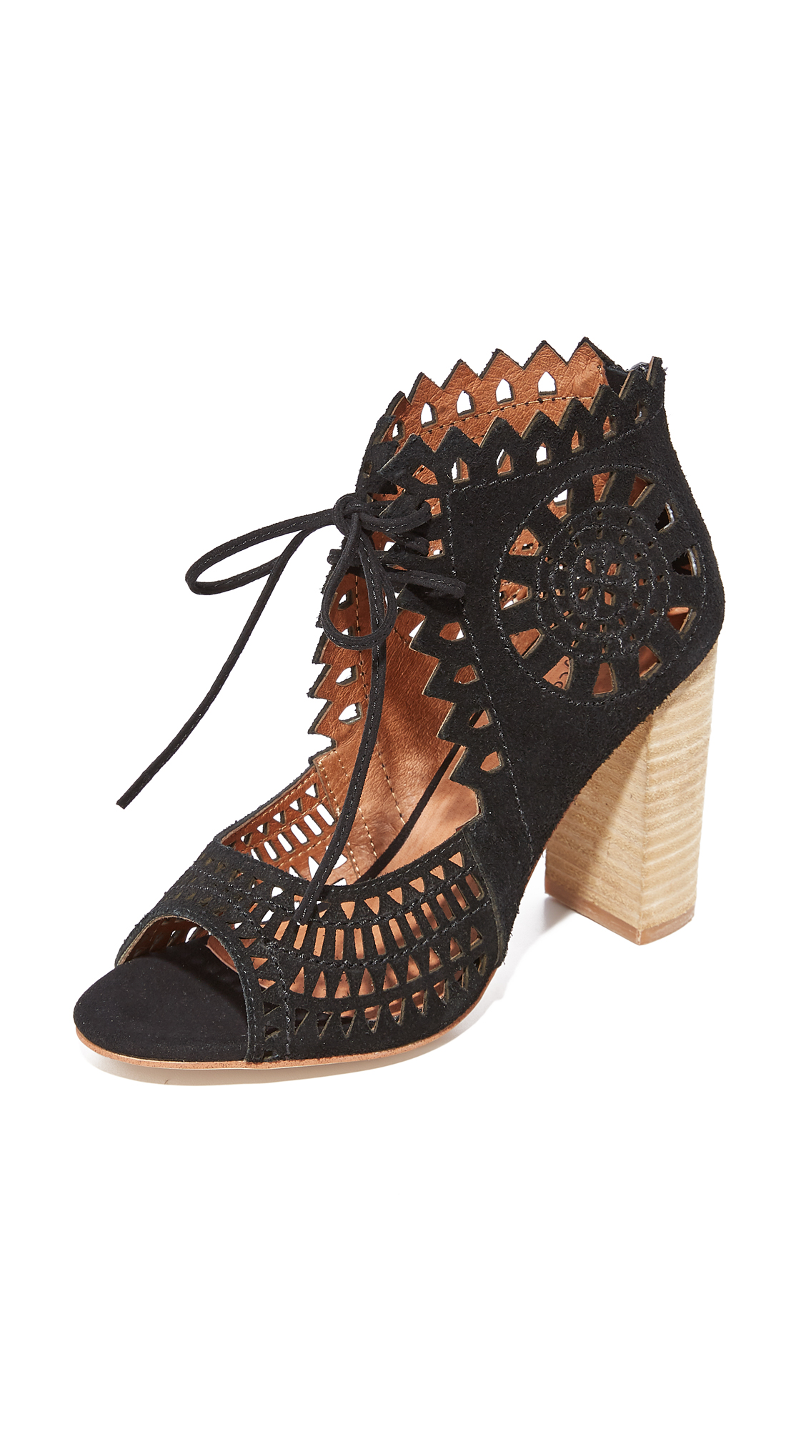 Jeffrey Campbell Cordia Sandals - Black/Natural