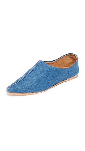 Jeffrey Campbell Vijay Jean Convertible Flats - Blue Denim