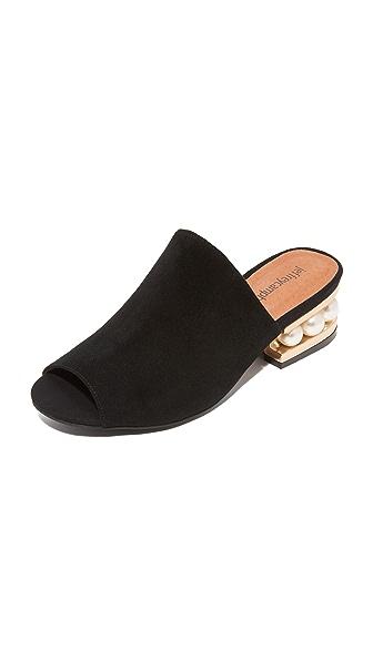 Jeffrey Campbell Arcita Mule Sandals - Black/Gold