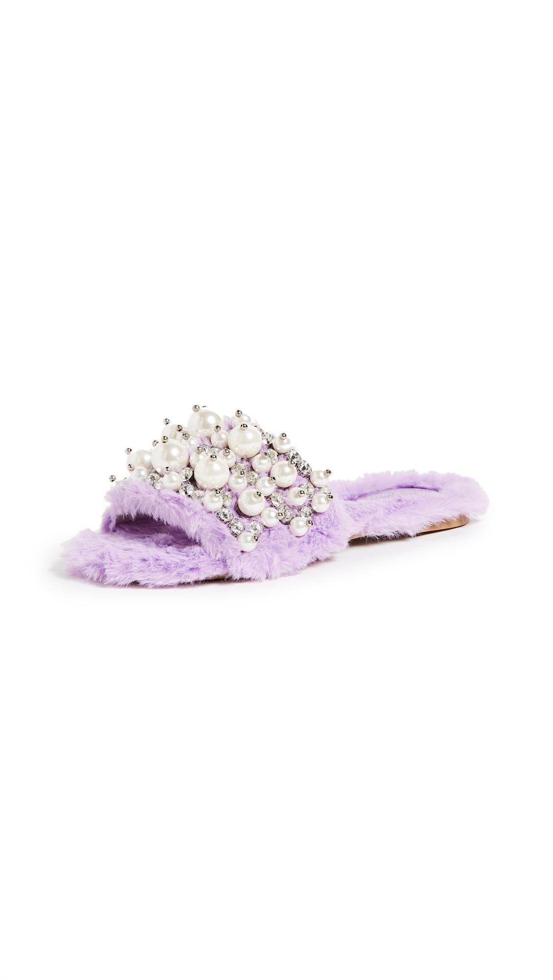 Jeffrey Campbell Facil Slides - Purple Combo