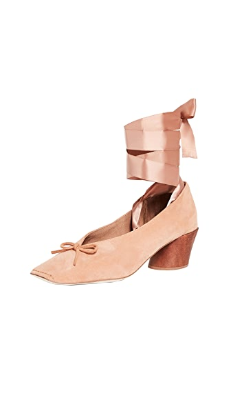Jeffrey Campbell Jorie Square Toe Pumps In Blush