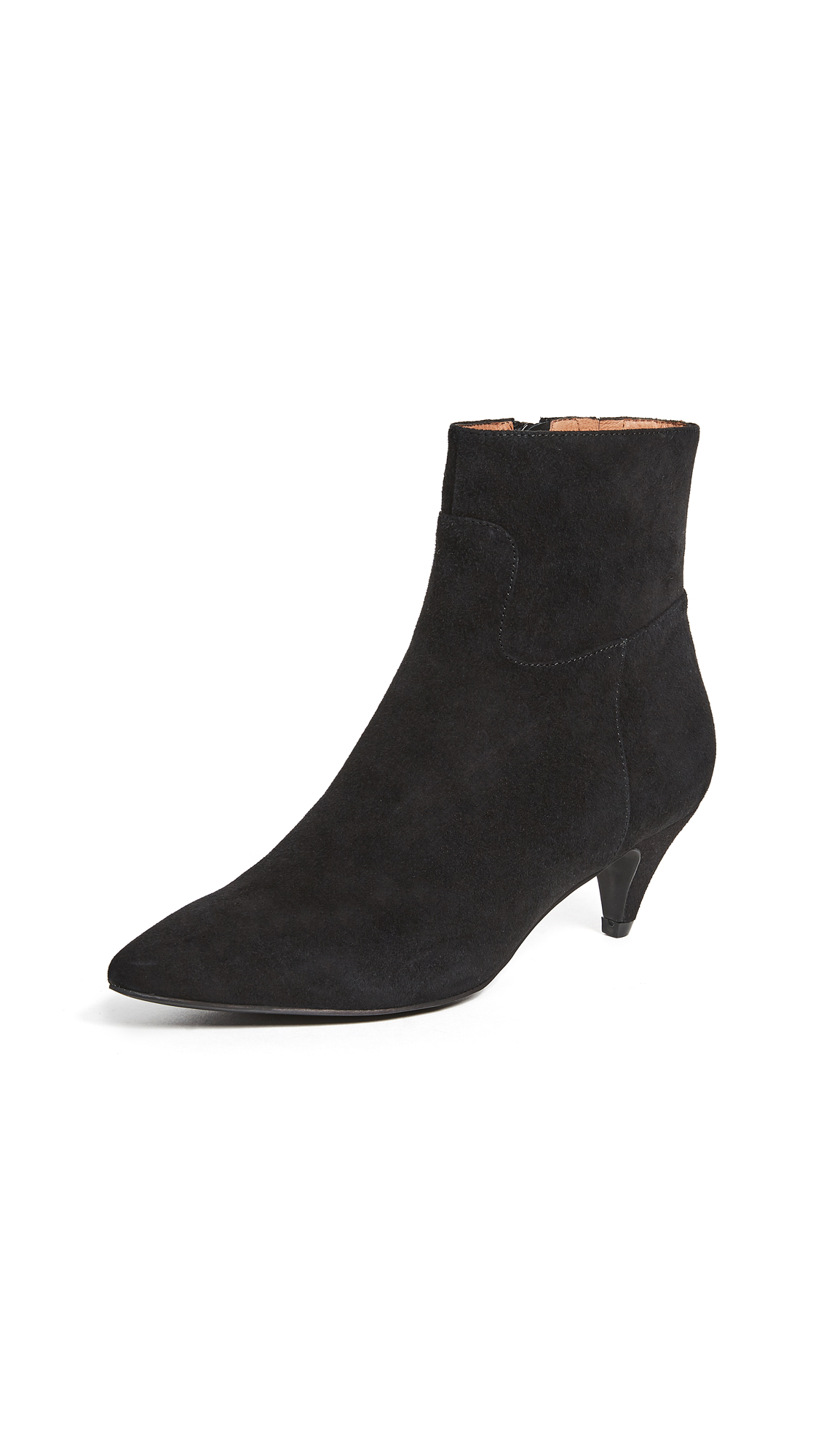 Jeffrey Campbell Muse Kitten Heel Booties - Black