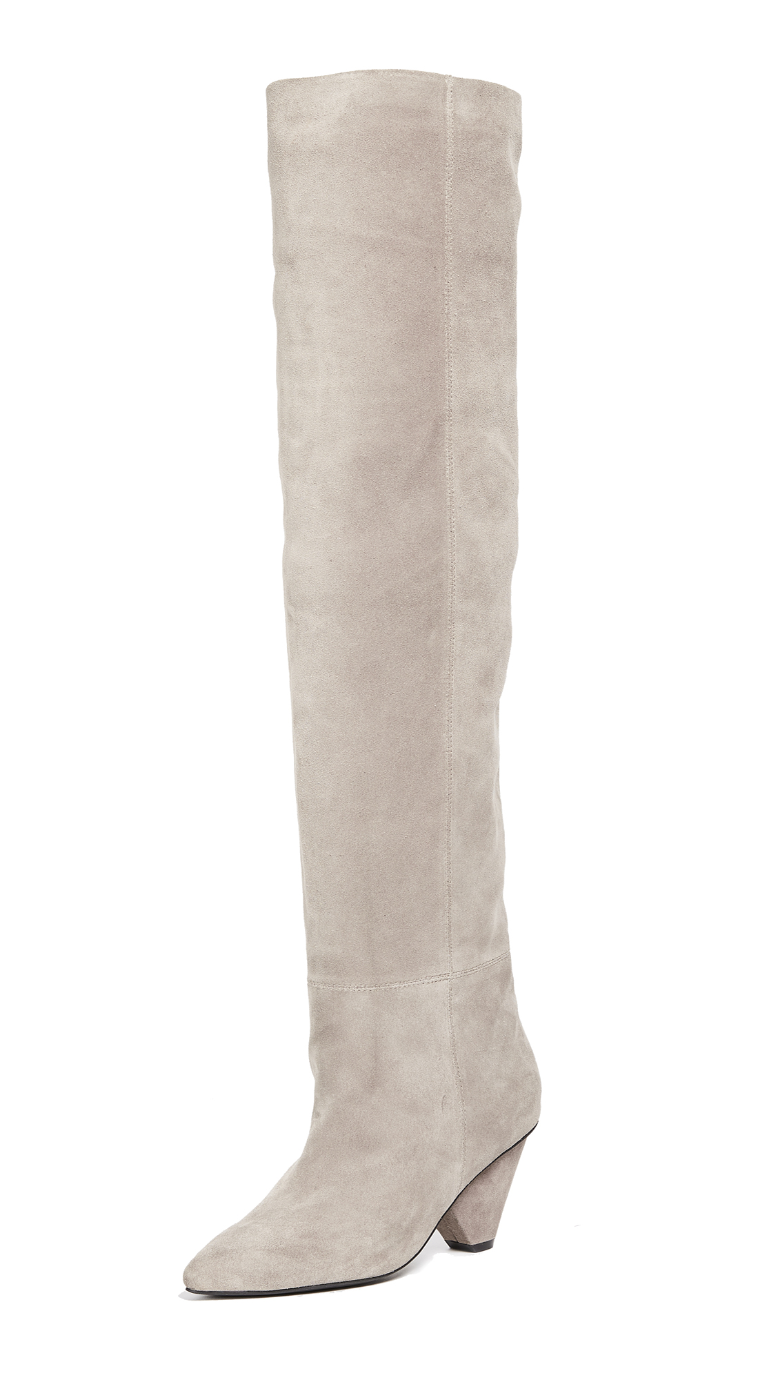 Jeffrey Campbell Senita Cone Heel Boots - Taupe