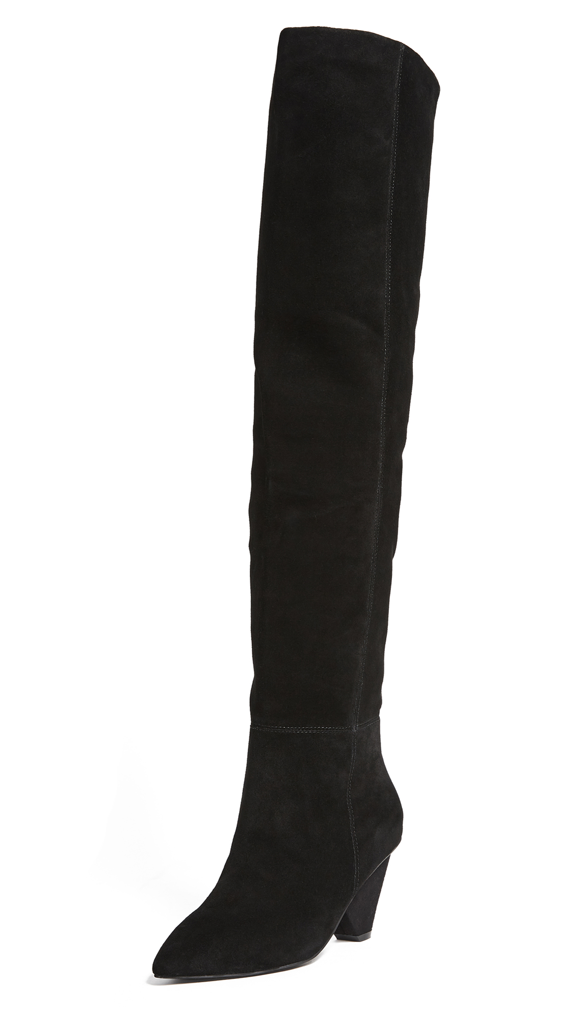 Jeffrey Campbell Senita Cone Heel Boots - Black