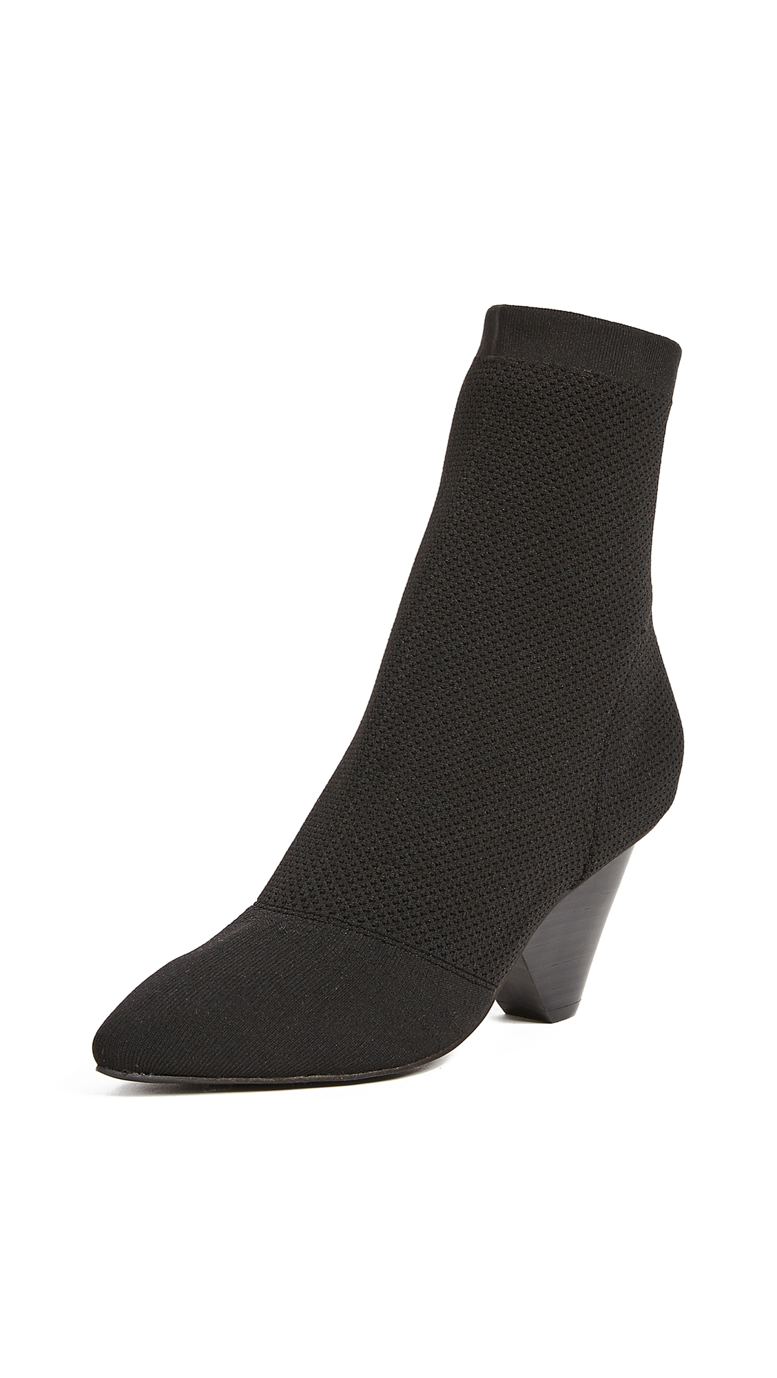 Jeffrey Campbell Acadia Sock Booties - Black