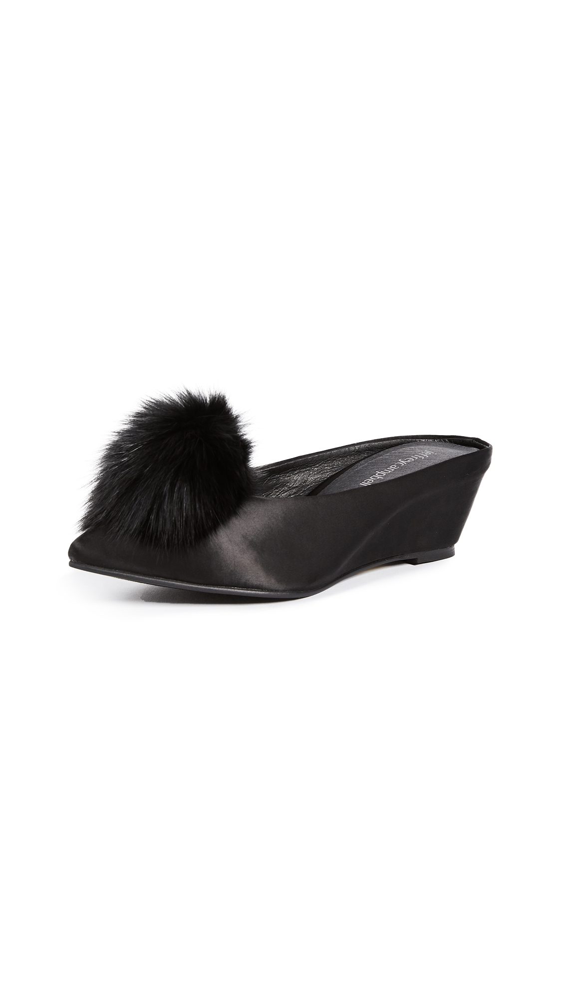 Jeffrey Campbell Ninon Point Toe Mules - Black