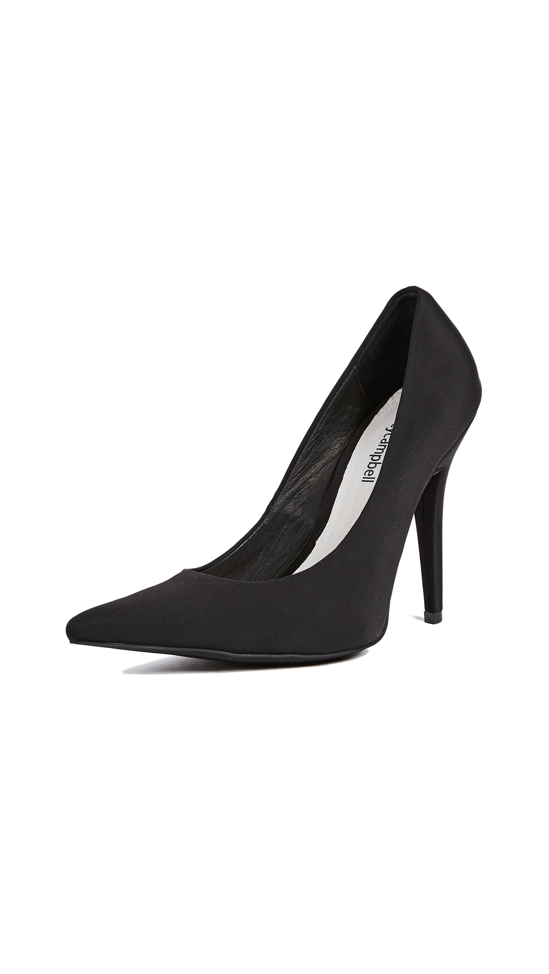 Jeffrey Campbell Ikon Point Toe Pumps - Black
