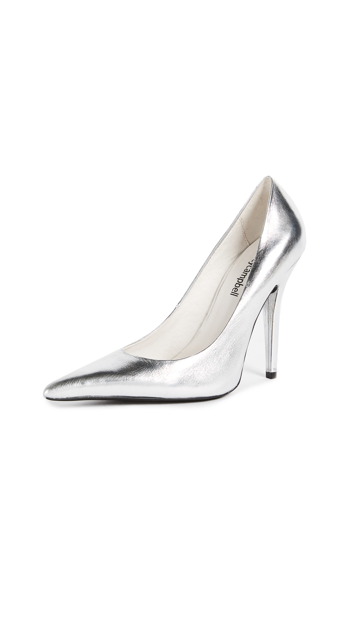Jeffrey Campbell Ikon Point Toe Pumps - Silver