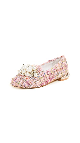 Jeffrey Campbell Honor Tweed Smoking Slippers at Shopbop
