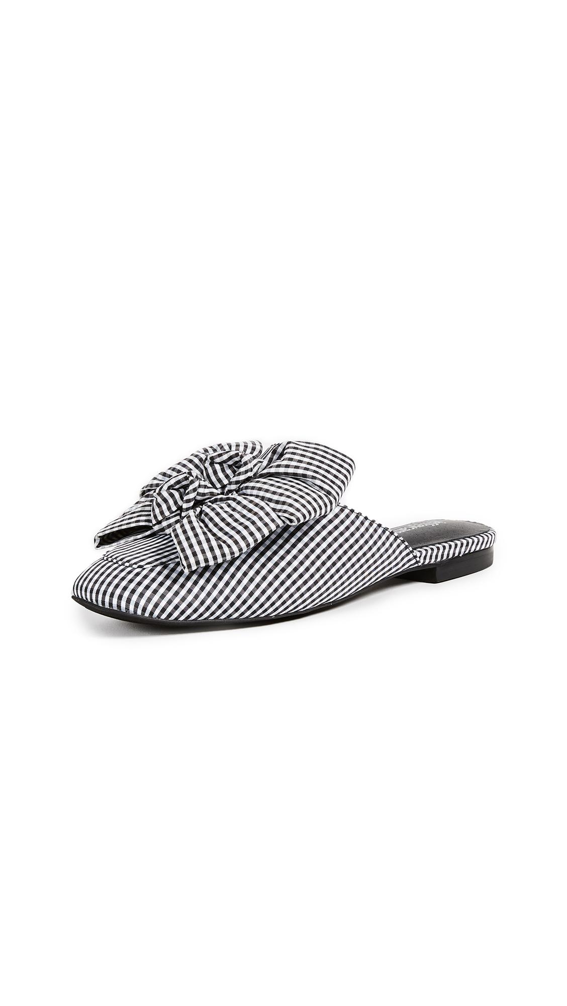 Jeffrey Campbell Ravis Bow Slides - Black/White