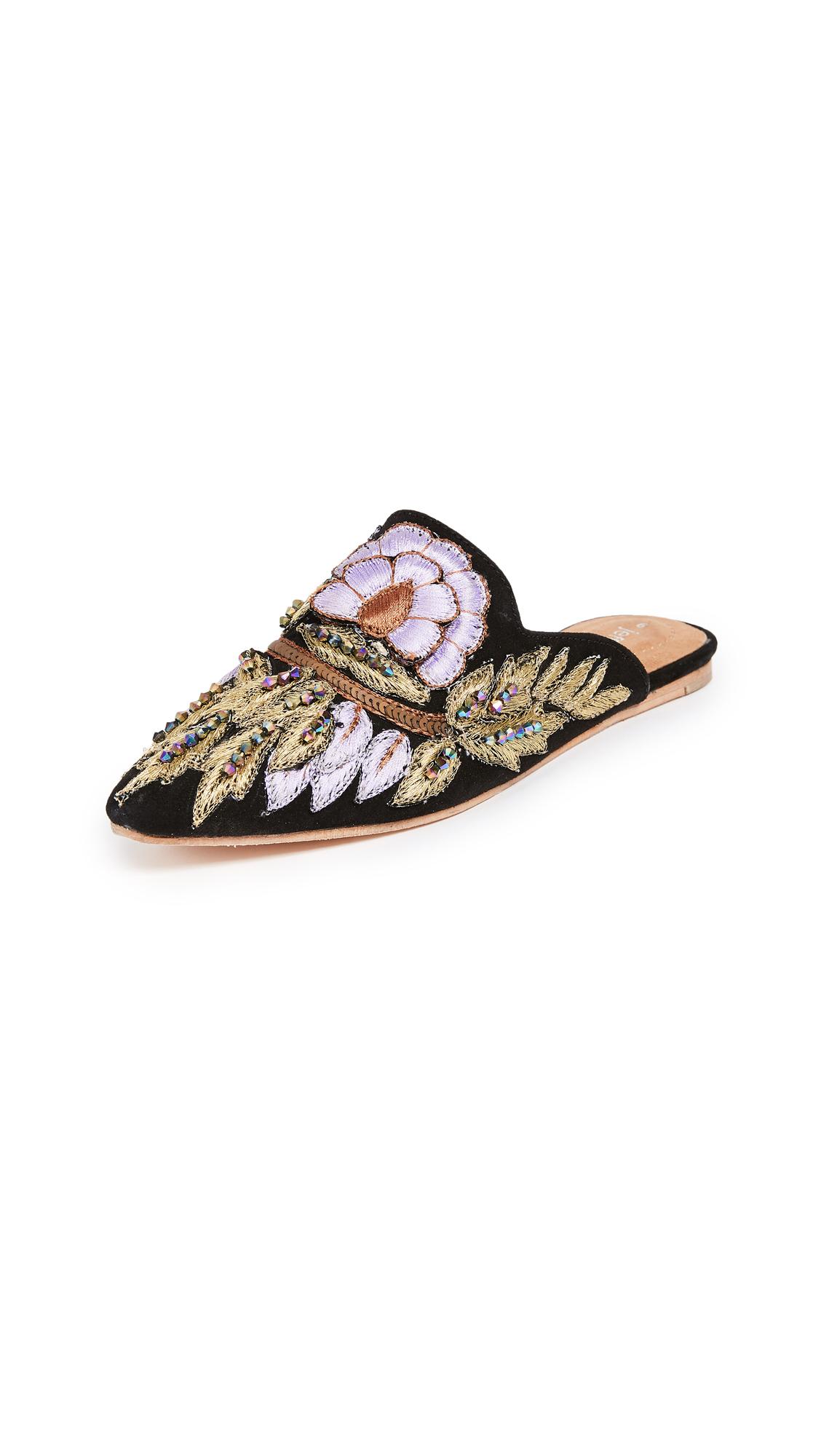 Jeffrey Campbell Varada Point Toe Slides - Black/Lilac