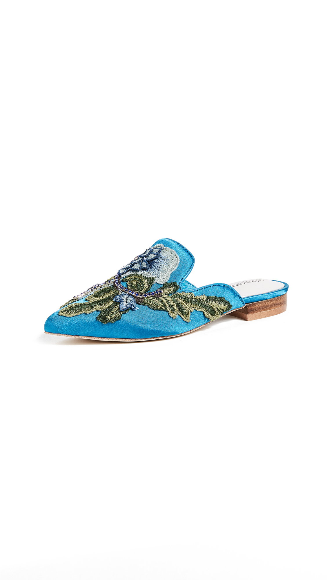 Jeffrey Campbell Claes Point Toe Mules - Blue