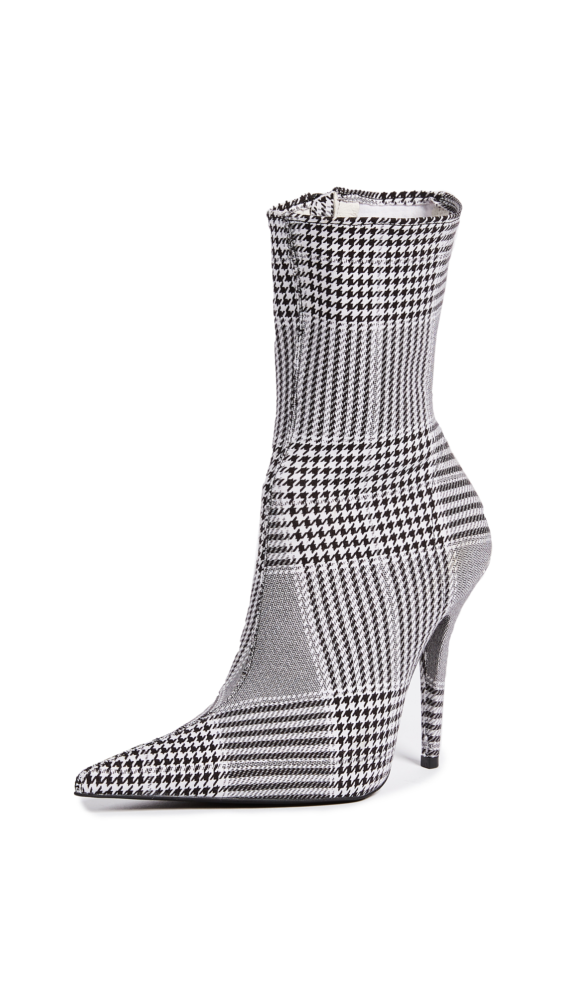 Jeffrey Campbell Vedette Point Toe Boots - Black/White