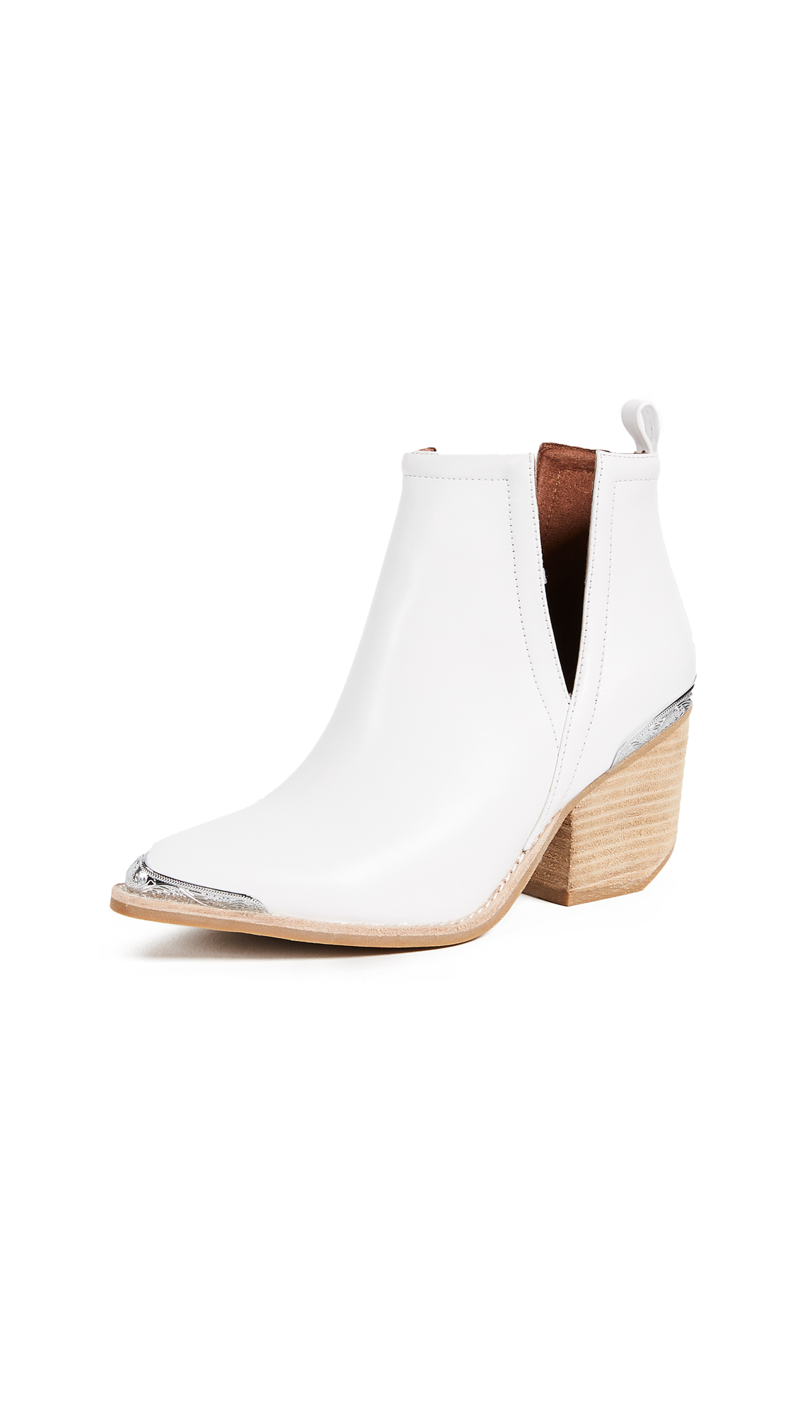 Jeffrey Campbell Cromwell Booties - White