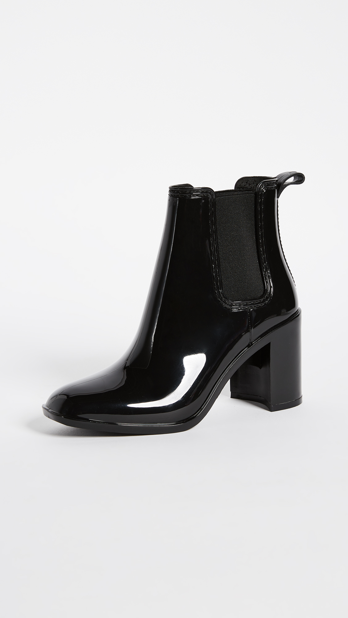 Opening Ceremony Black Pointy Mirror Heel Boots