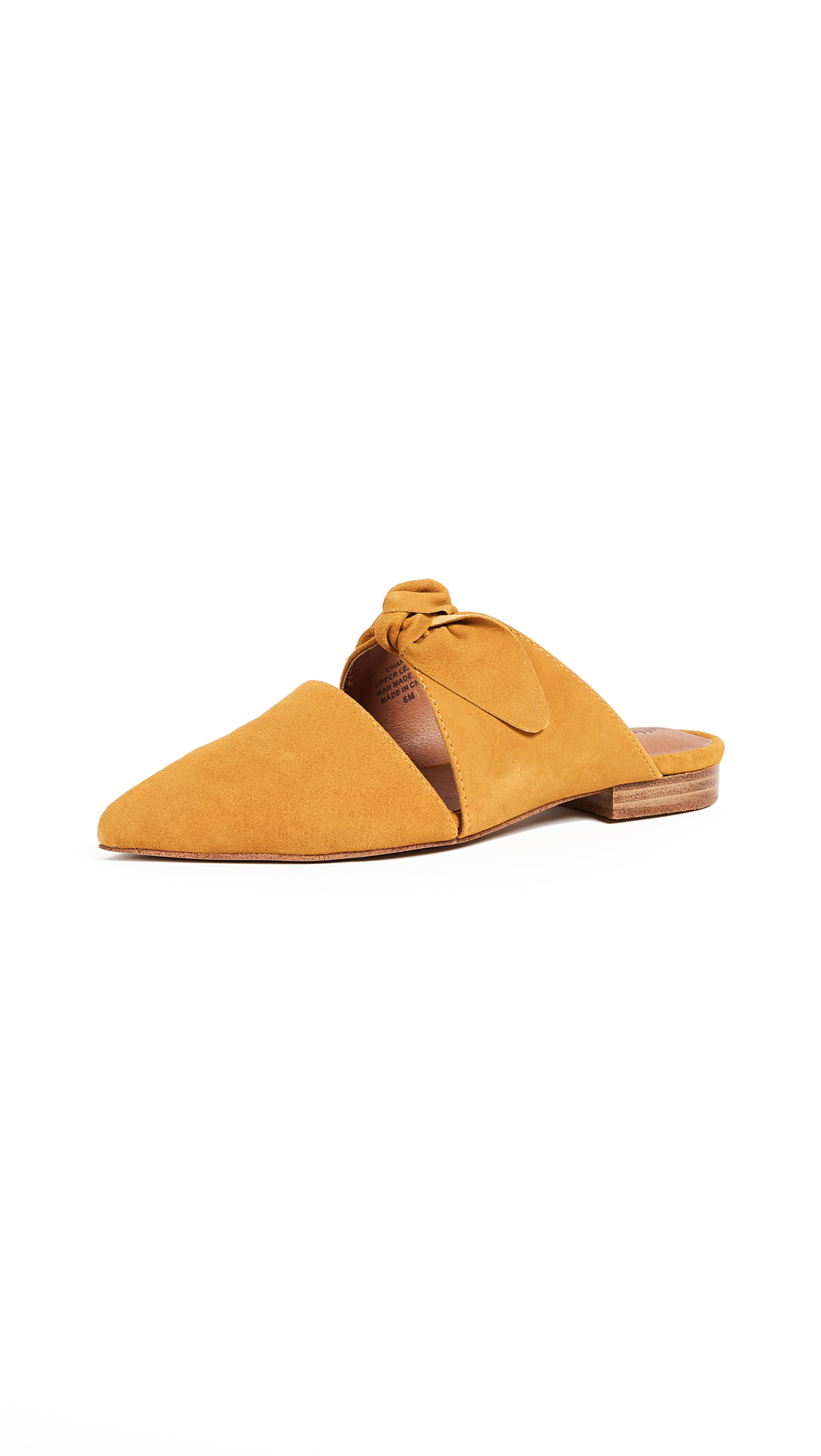 Jeffrey Campbell Charlin Point Toe Mules - Mustard