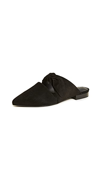 Jeffrey Campbell Charlin Point Toe Mules In Black