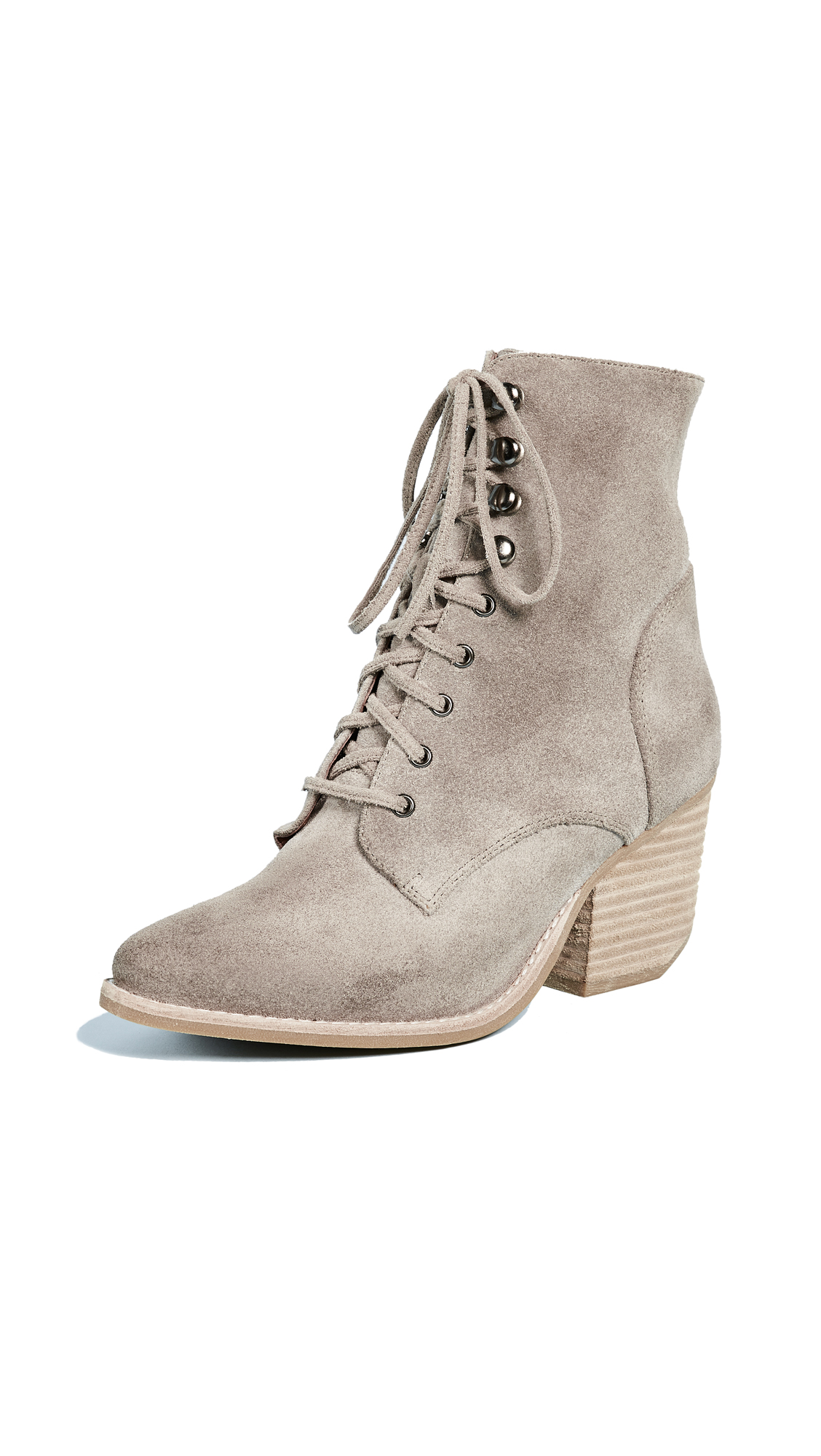 Jeffrey Campbell Elmcrom Lace Up Boots - Taupe