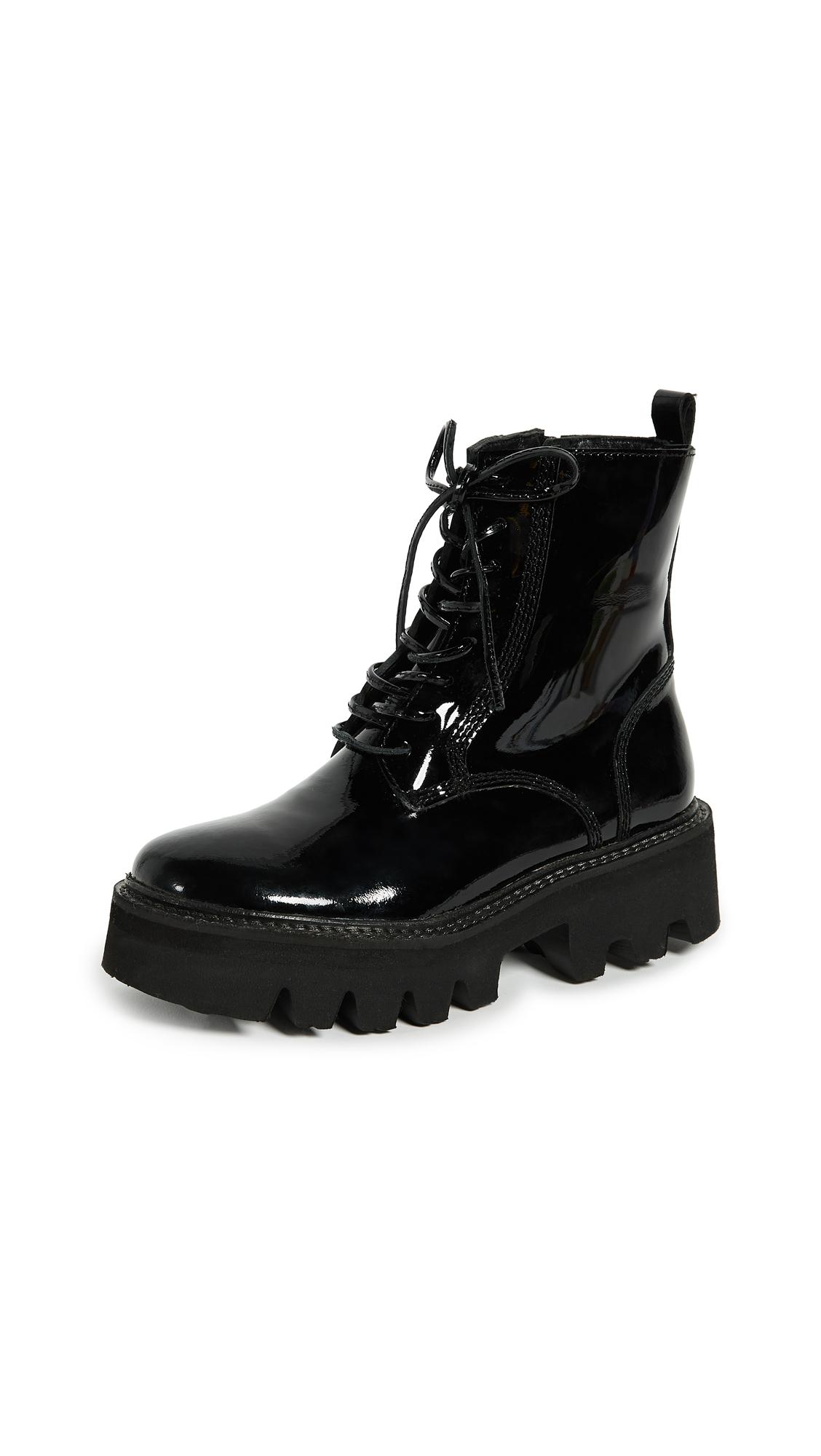 Jeffrey Campbell Agira Hiker Boots - Black
