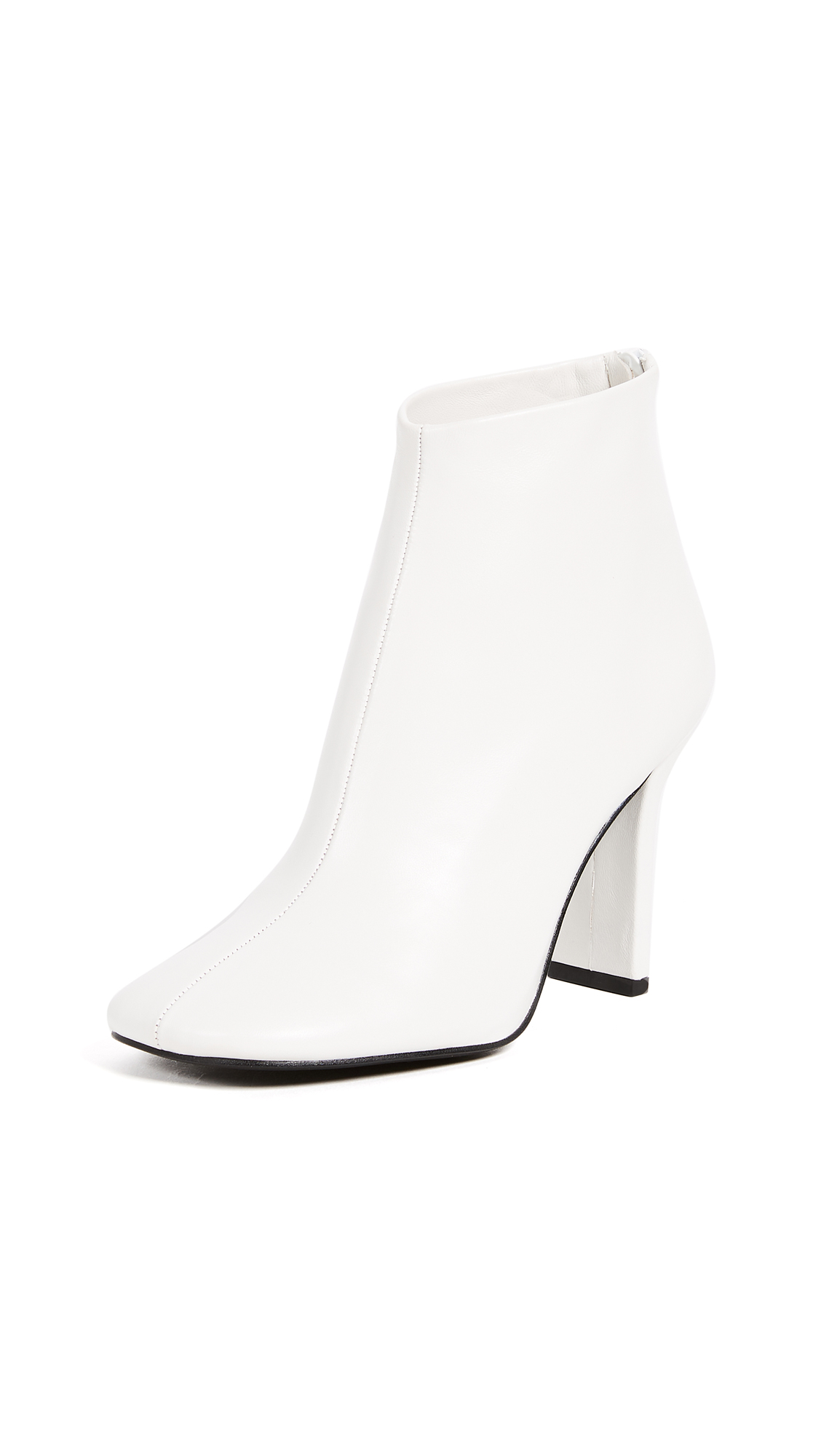 Jeffrey Campbell Obey Ankle Booties - White