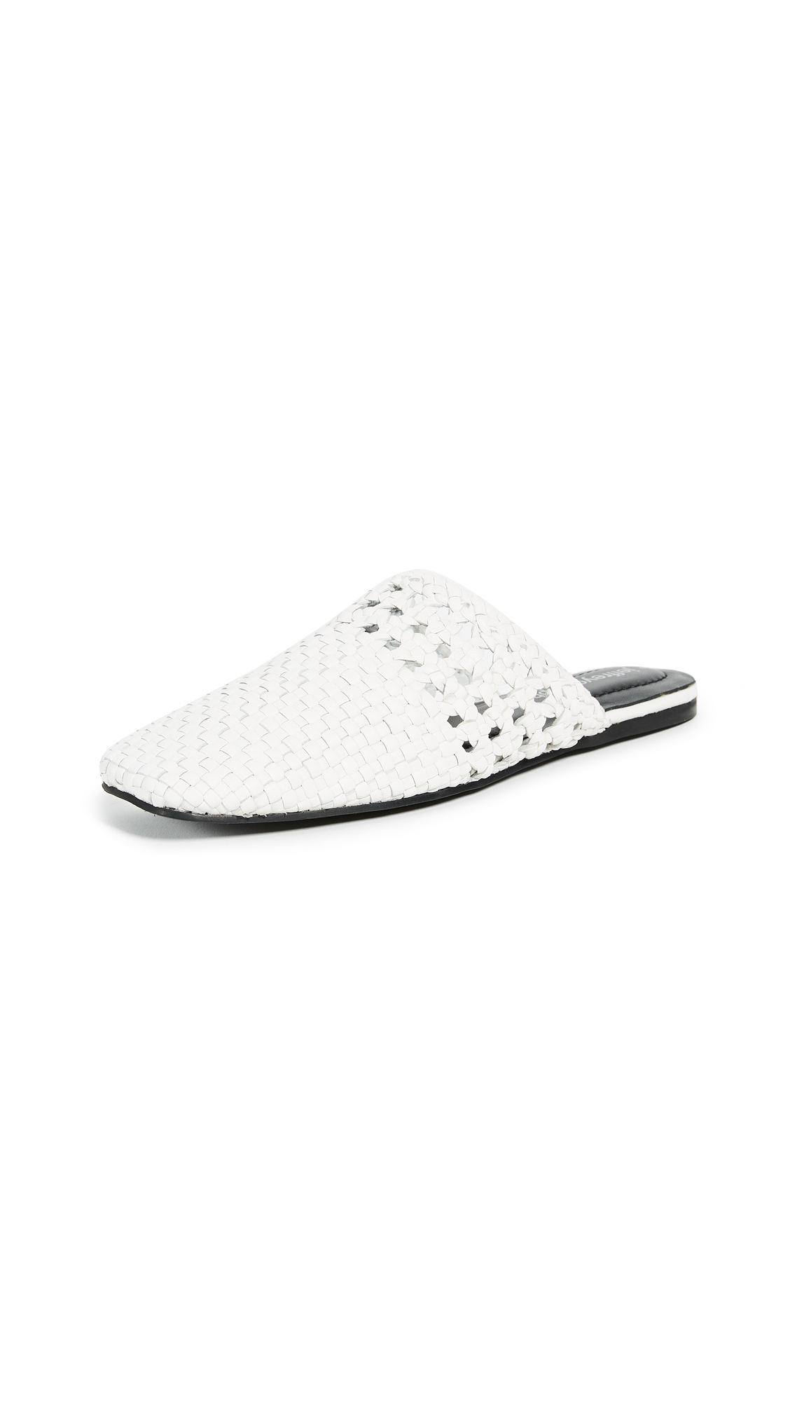 Jeffrey Campbell Vaal Woven Mules - White
