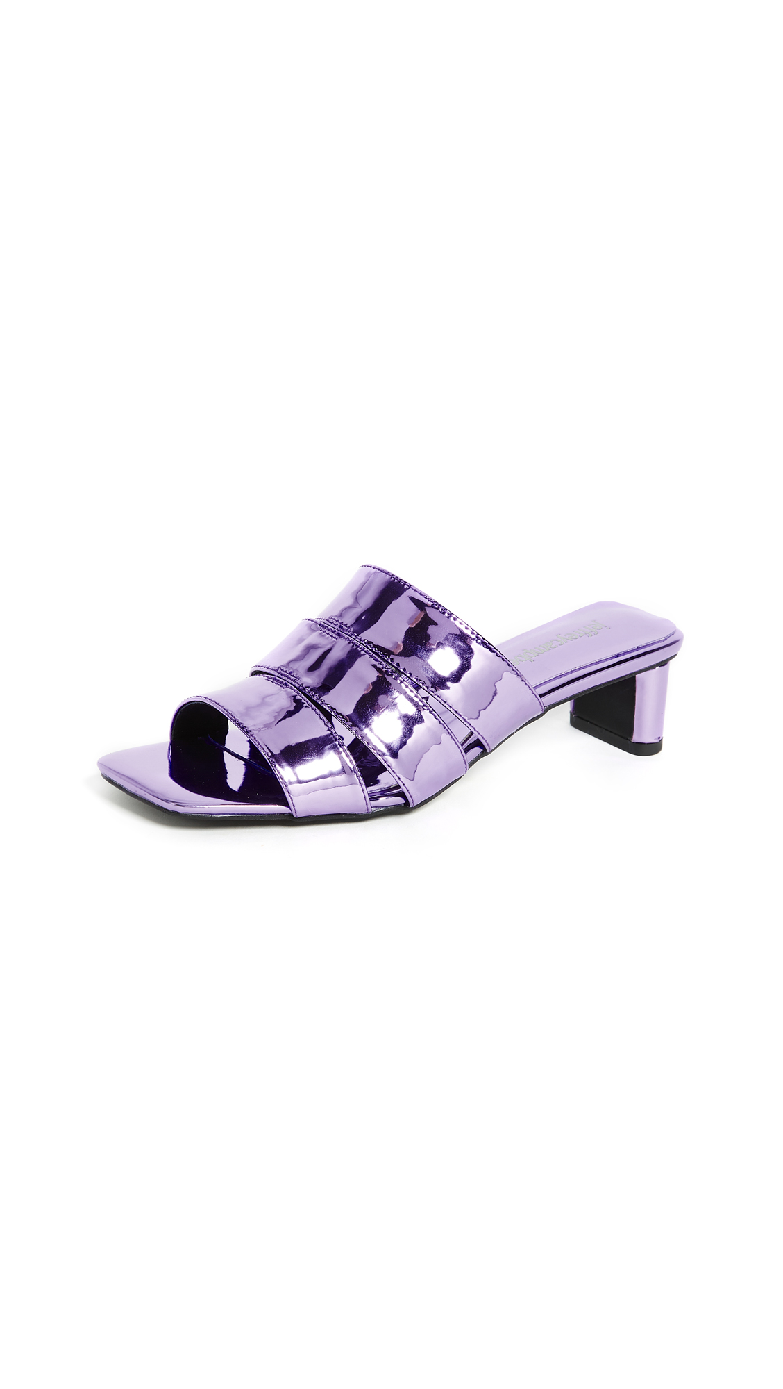 Jeffrey Campbell Rhymes Metallic Slide Sandals - Purple