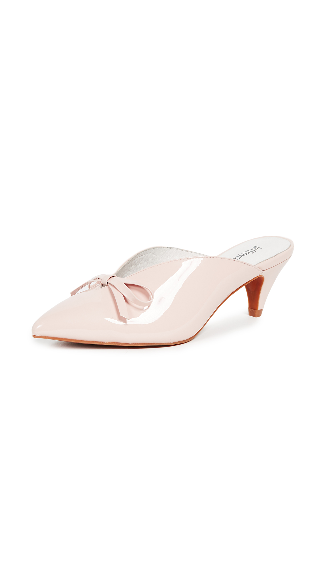 Jeffrey Campbell Romance Point Toe Mules - Light Pink