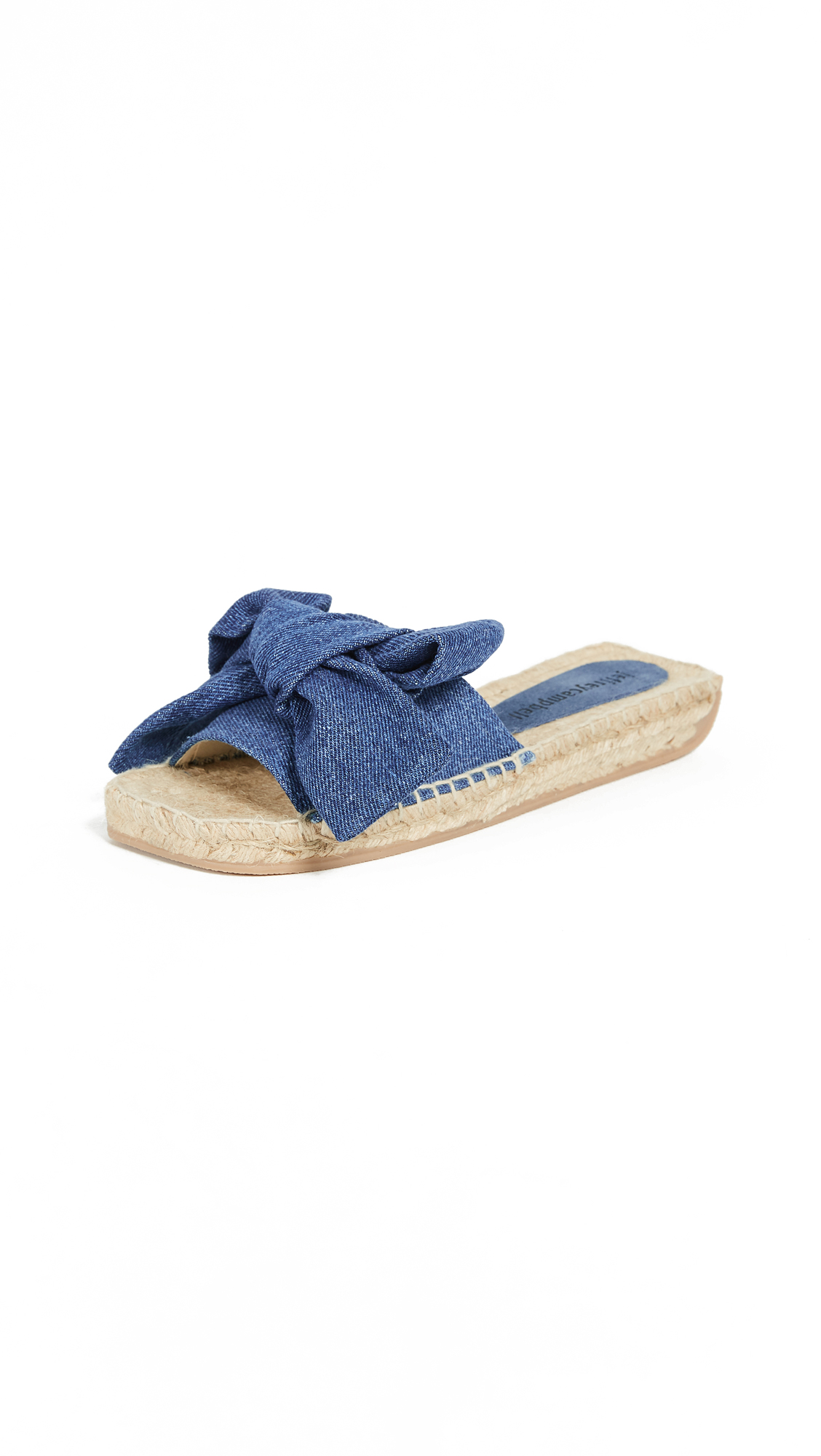 Jeffrey Campbell Denim Bow Slides - Denim