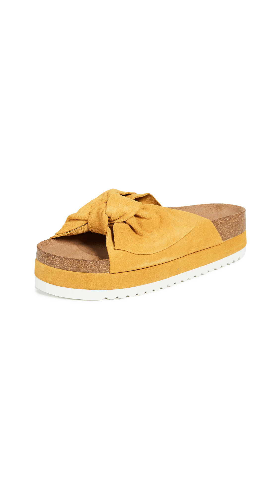 Jeffrey Campbell Rotuma Bow Slides - Mustard