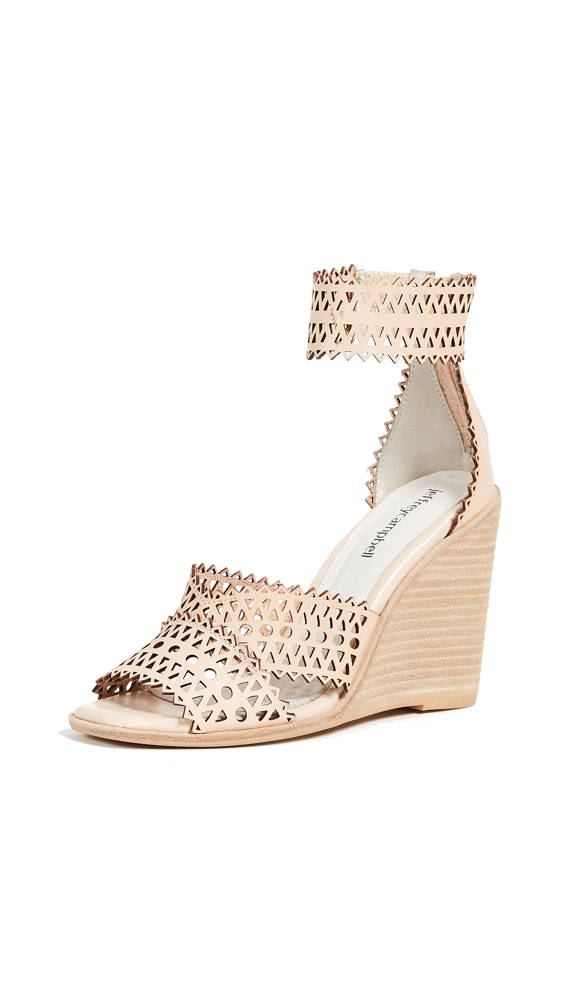 Jeffrey Campbell Besante Woven Wedges - Natural