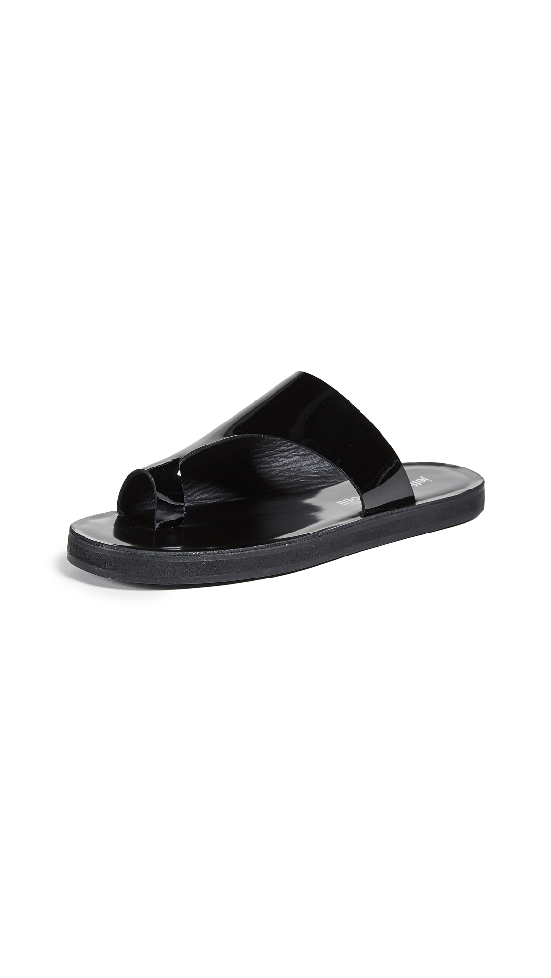 Jeffrey Campbell Morado Asymmetrical Slides - Black