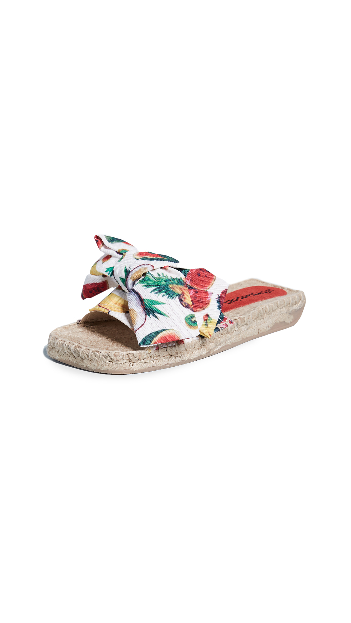 Jeffrey Campbell Print Fruit Slides - White Multi