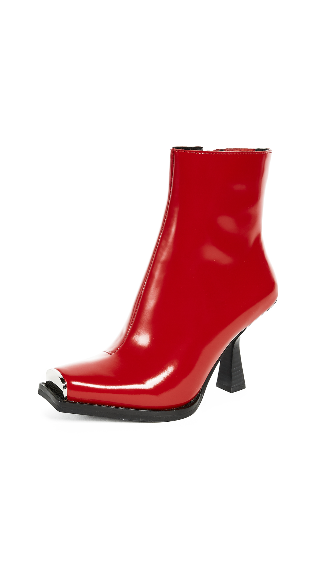 Jeffrey Campbell Hiatus Square Toe Boots - Red Box