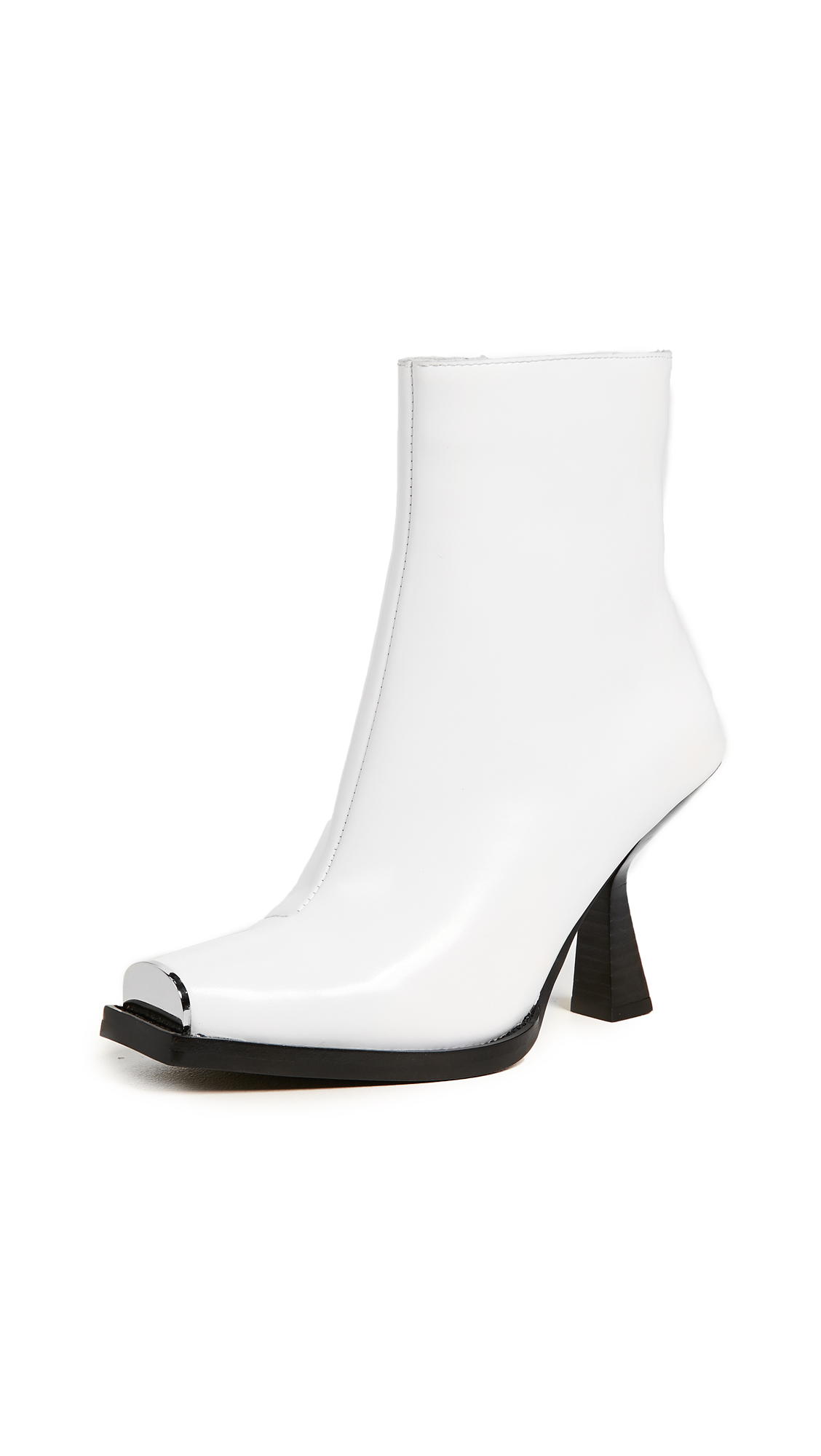 Jeffrey Campbell Hiatus Square Toe Boots - White Box