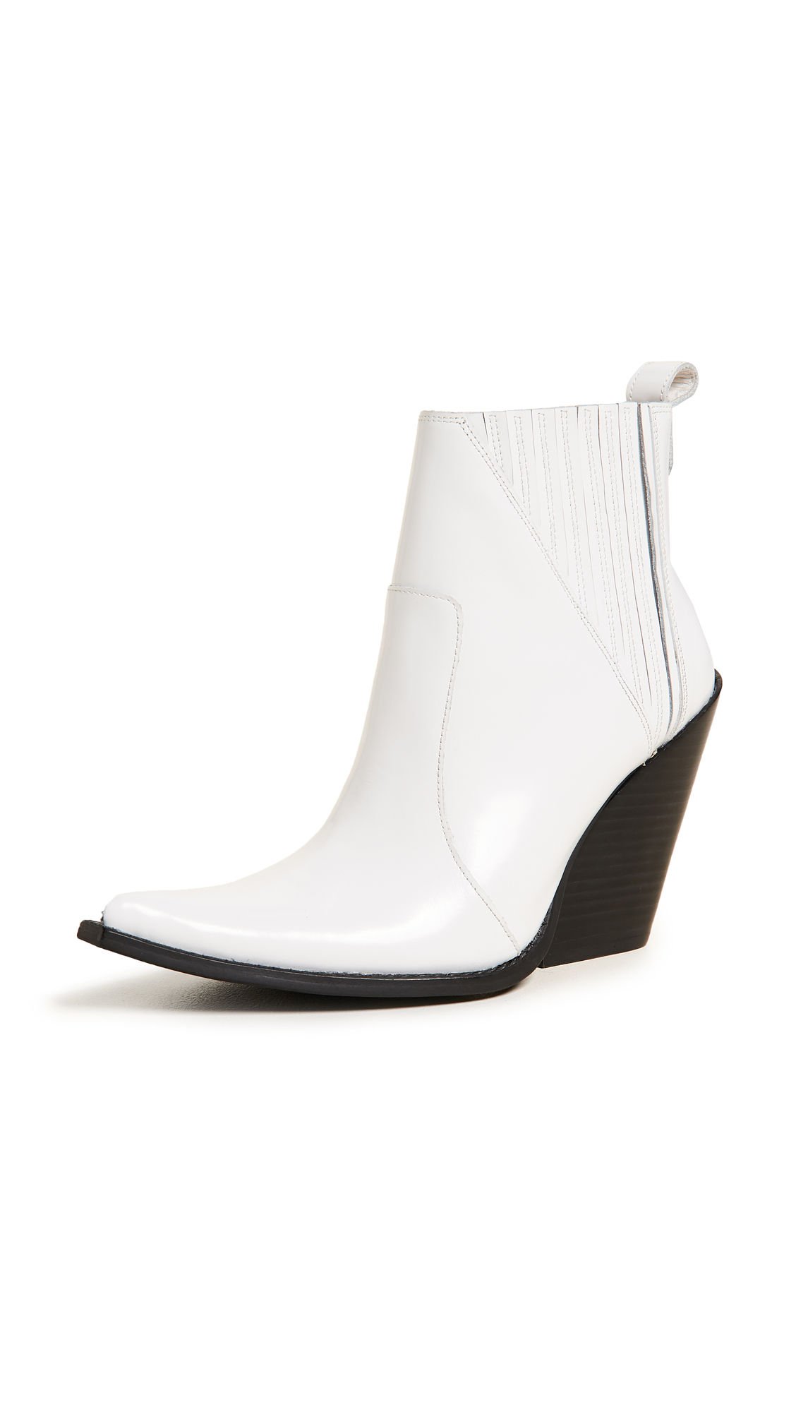 Jeffrey Campbell Homage Point Toe Booties - White Box