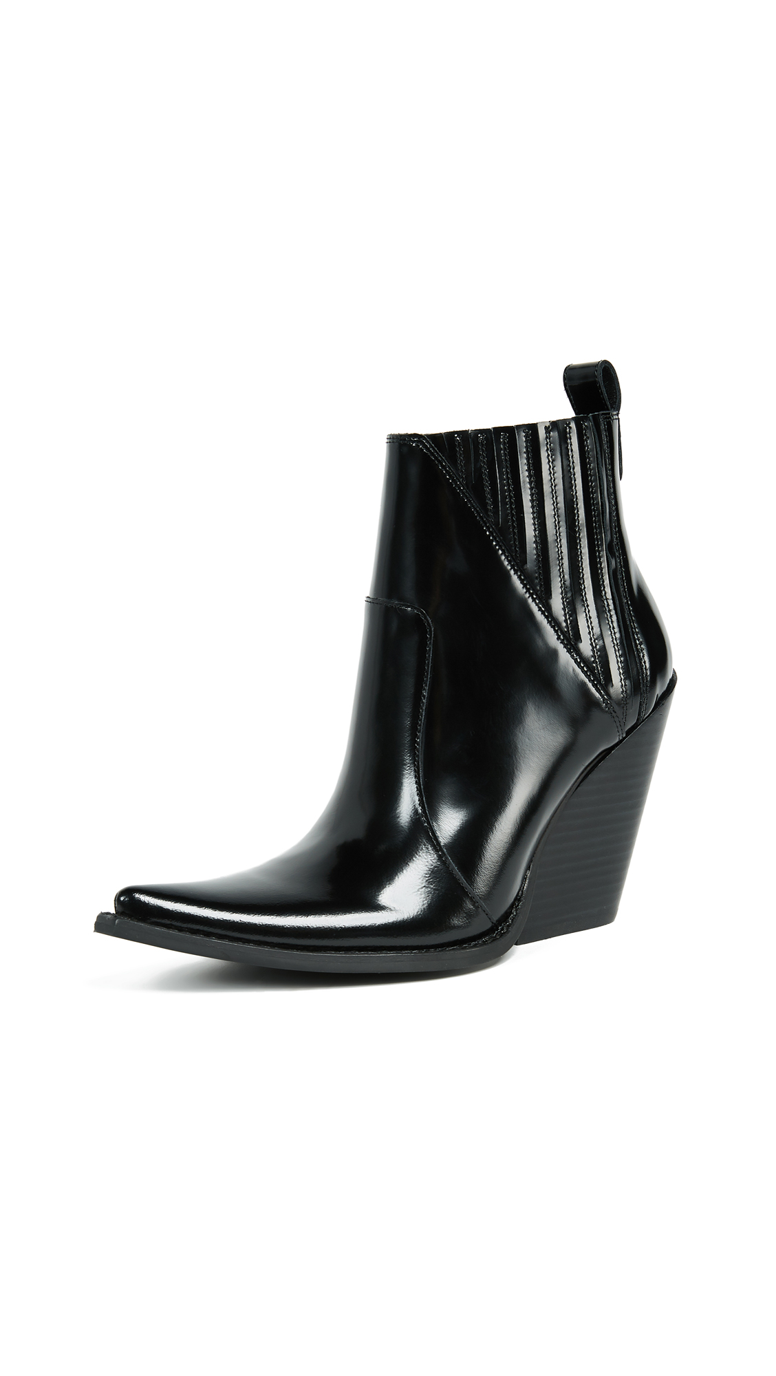 Jeffrey Campbell Homage Point Toe Booties - Black Box