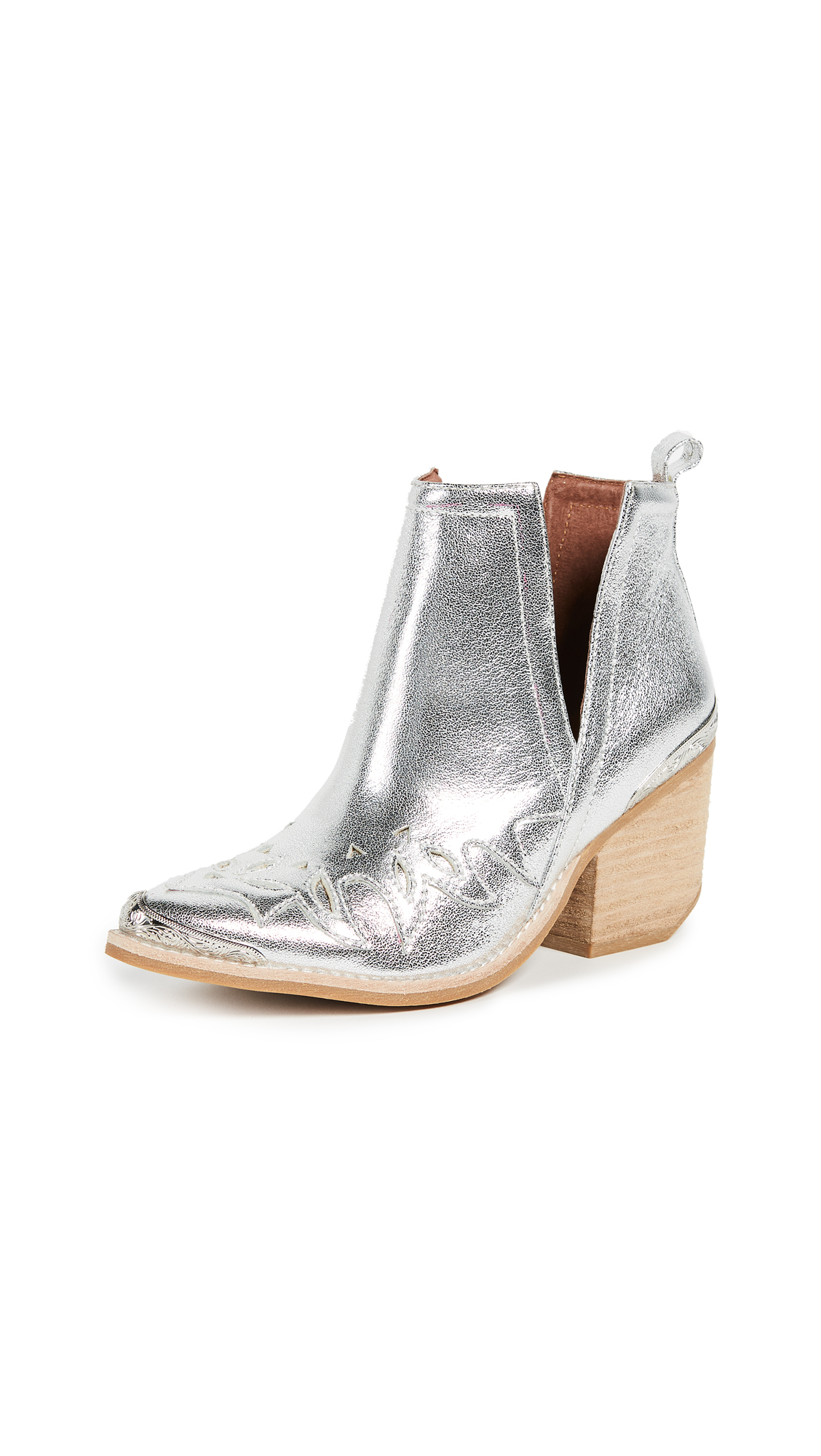 Jeffrey Campbell Olinda Point Toe Booties - Silver