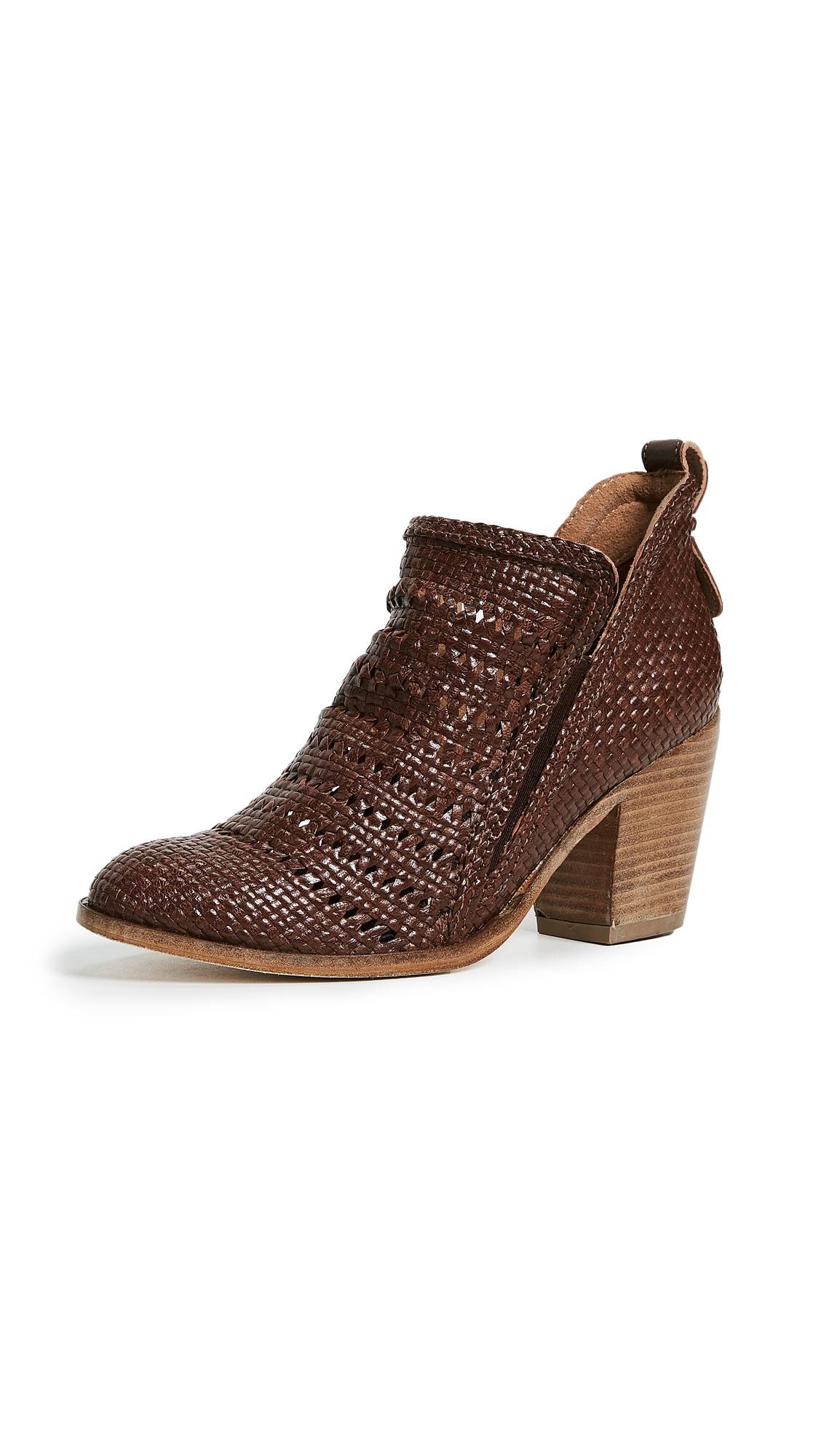Jeffrey Campbell Burman Woven Ankle Boots - Brown