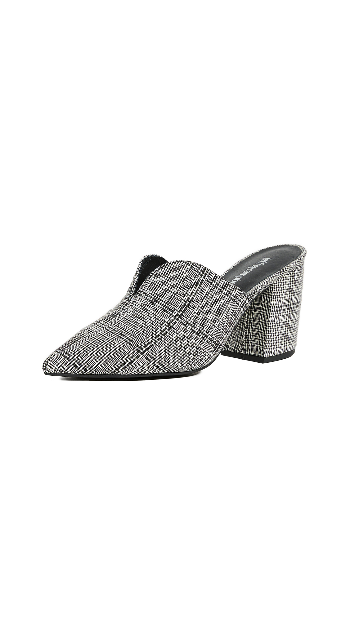 Jeffrey Campbell Complete Plaid Point Toe Pumps - Black/White