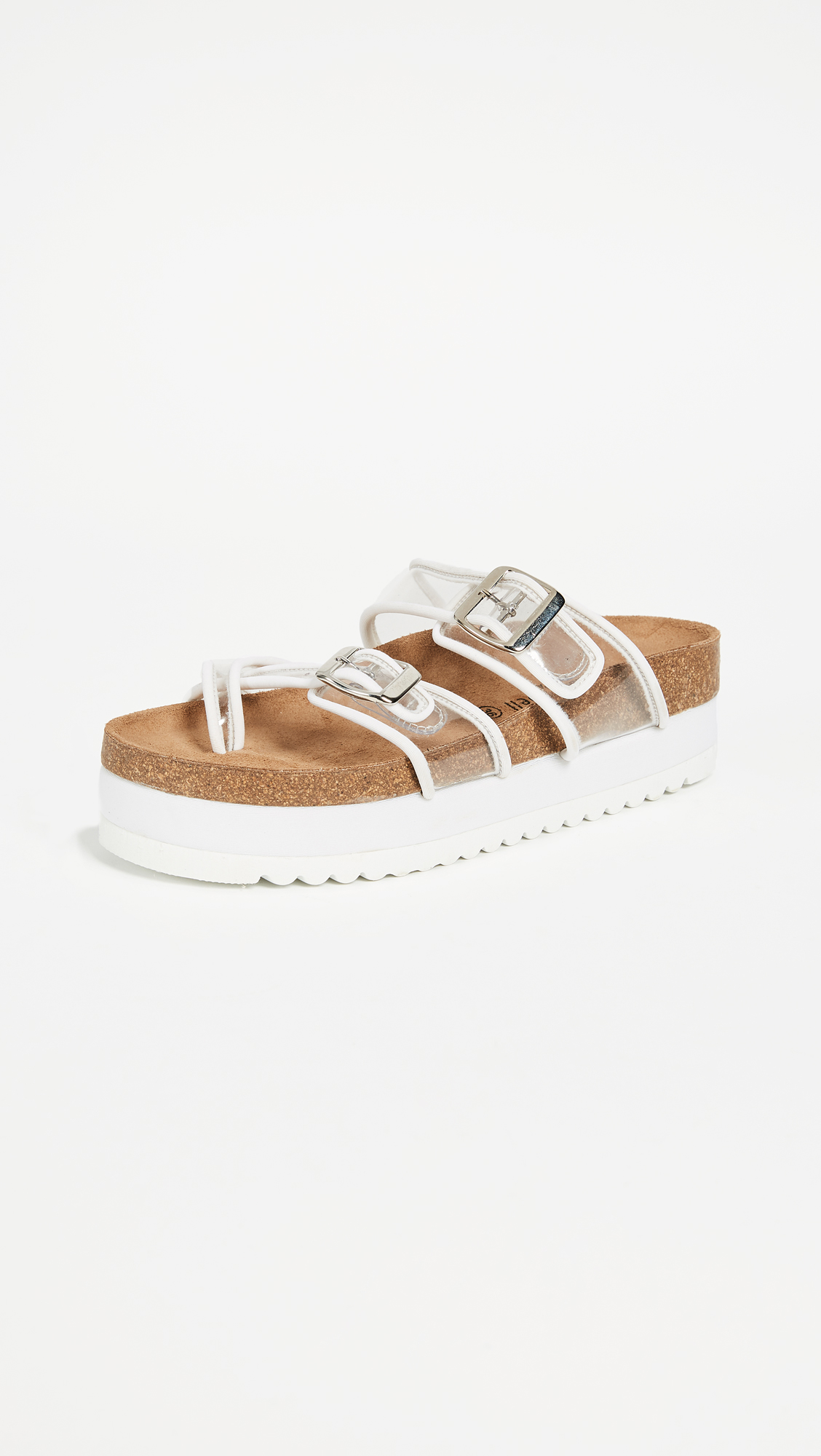 Jeffrey Campbell Fatu PVC Sandals - White/Clear