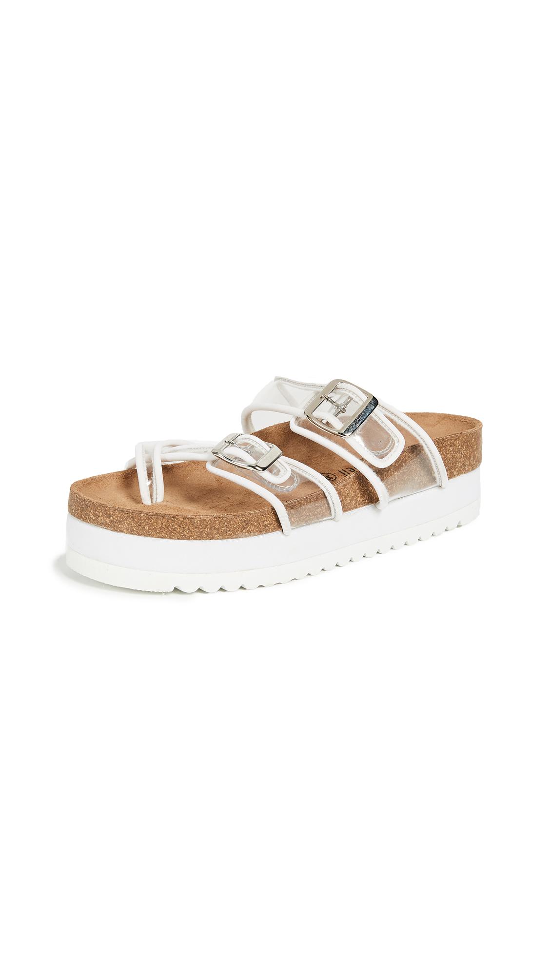 Jeffrey Campbell Fatu PVC Sandals - White/Clear
