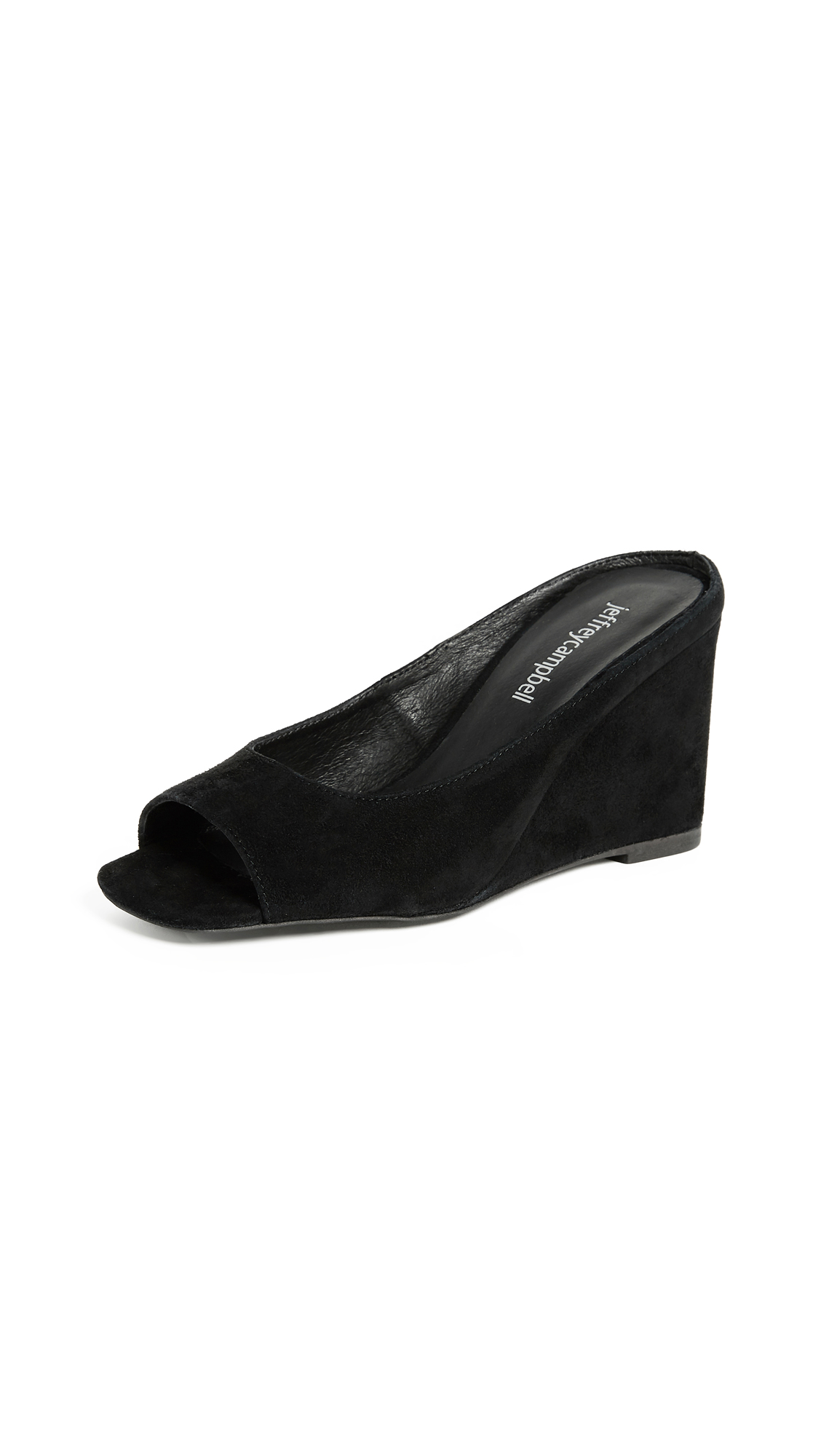 Jeffrey Campbell Generous Peep Toe Wedges - Black