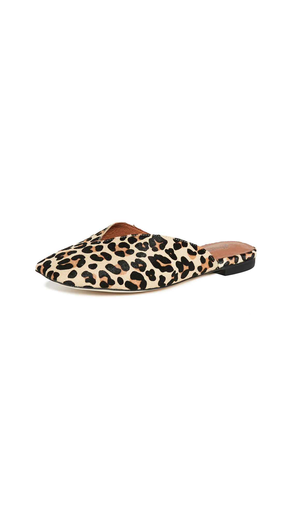 Jeffrey Campbell Grande Square Toe Mules - Tan/Cheetah