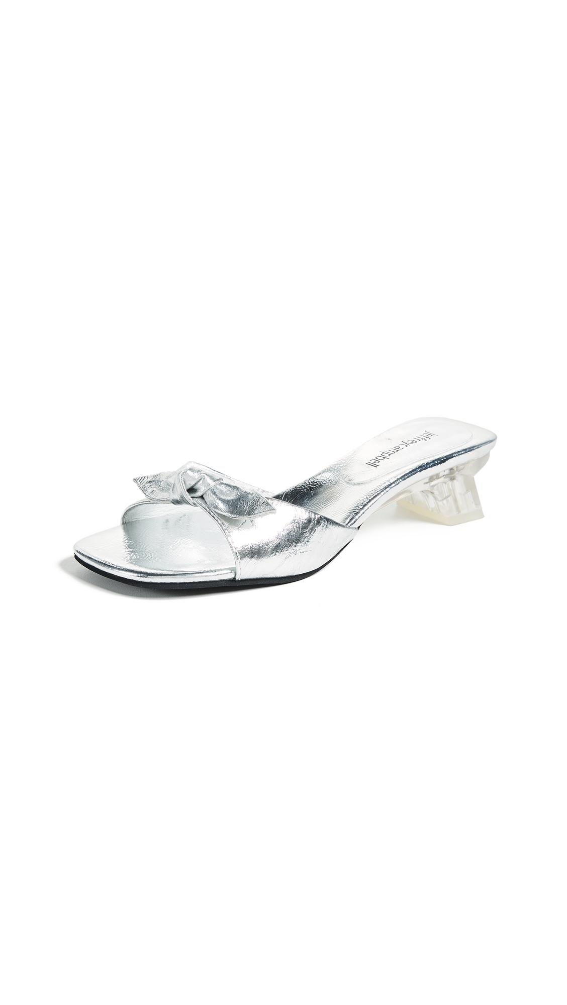 Jeffrey Campbell H8ER Slides - Silver