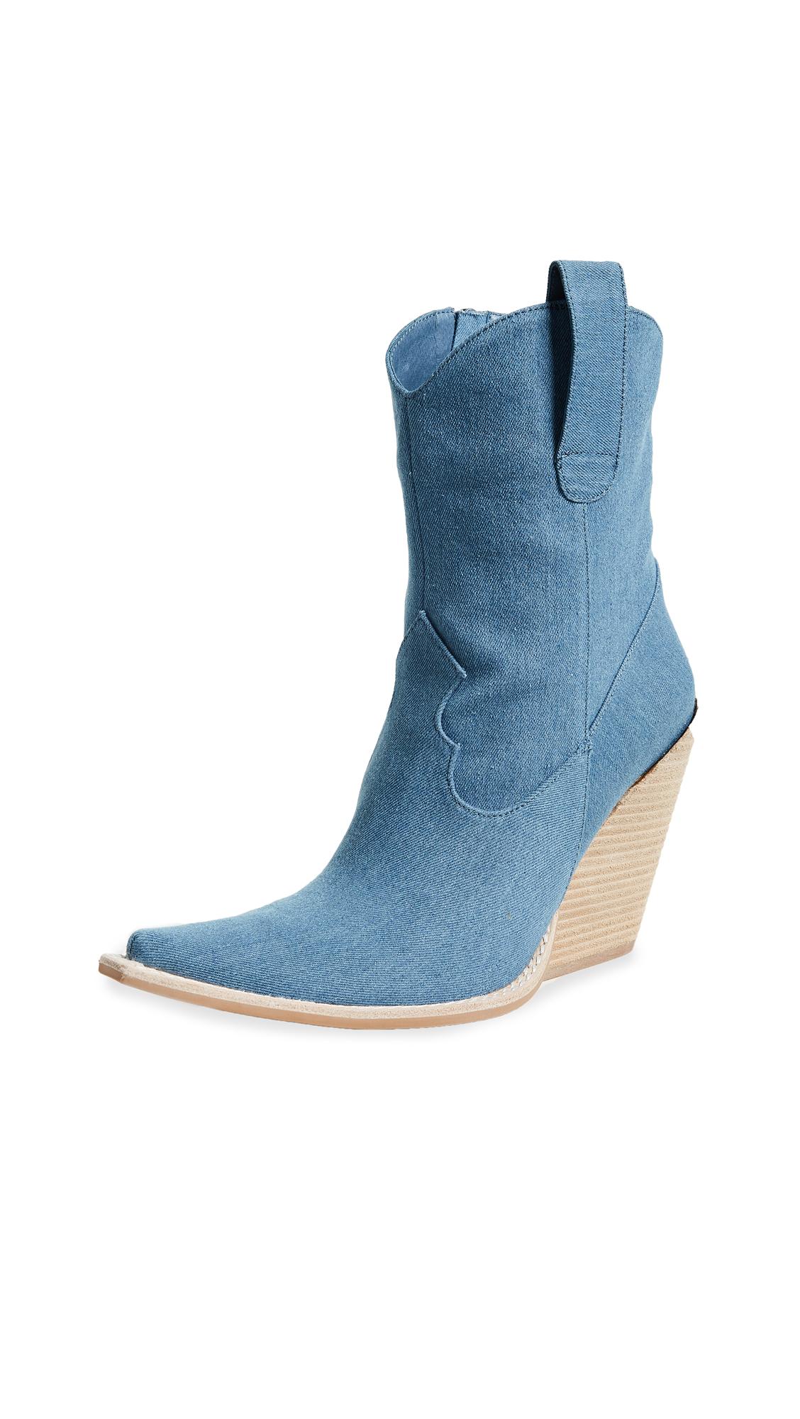 Jeffrey Campbell Homage Point Toe Boots - Denim