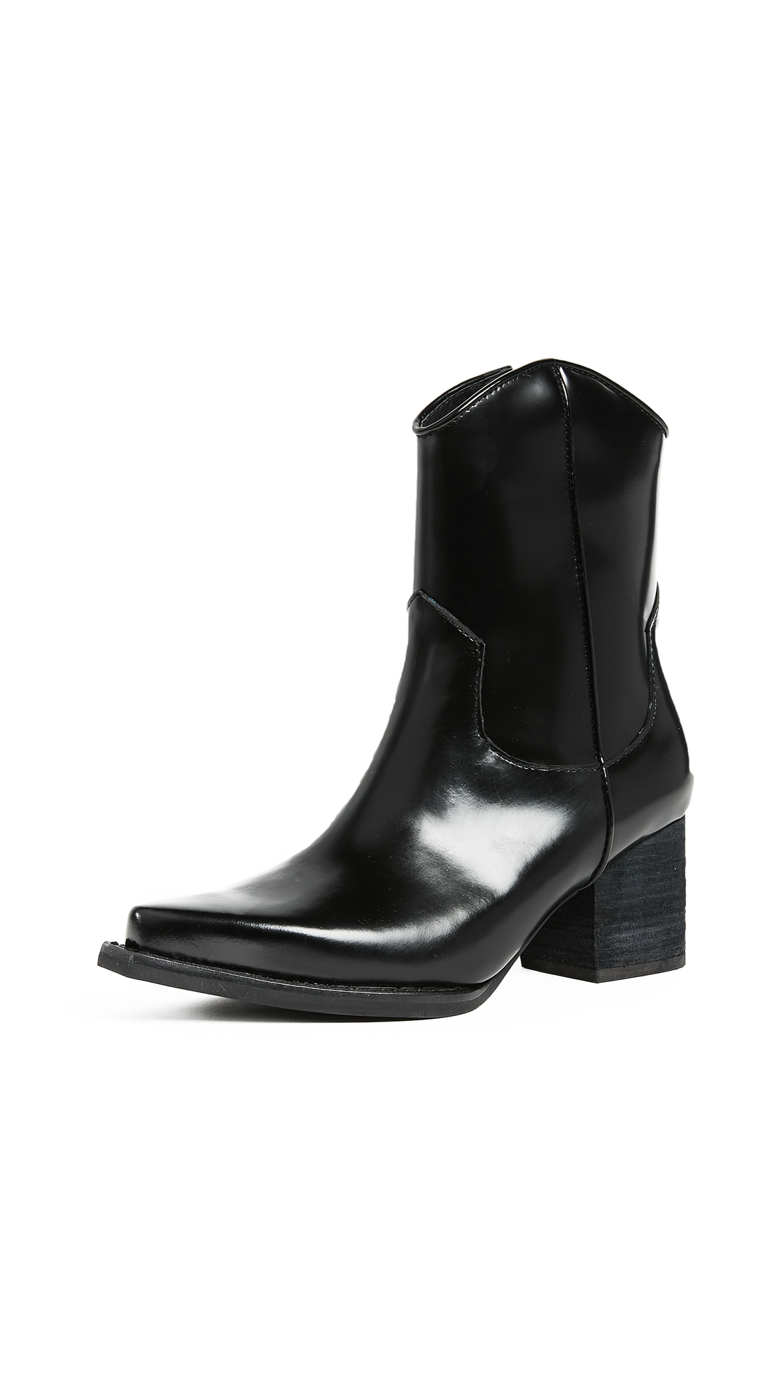 Jeffrey Campbell Larosa Block Heel Boots - Black Box